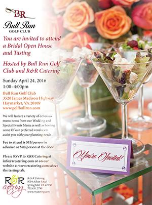 Sunday April 24, 2016 Bridal Open House & Tasting