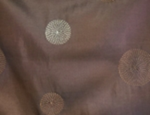 Brown Circle Taffeta